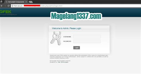 tutorial hack komputer deface dengan ofek technologies admin page bypass