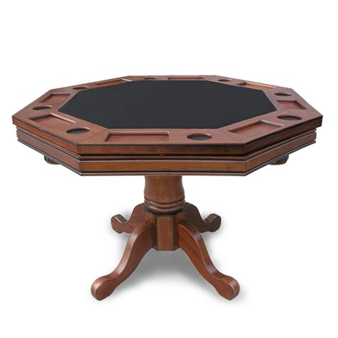 walnut kingston 3 in 1 poker with 4 chairs