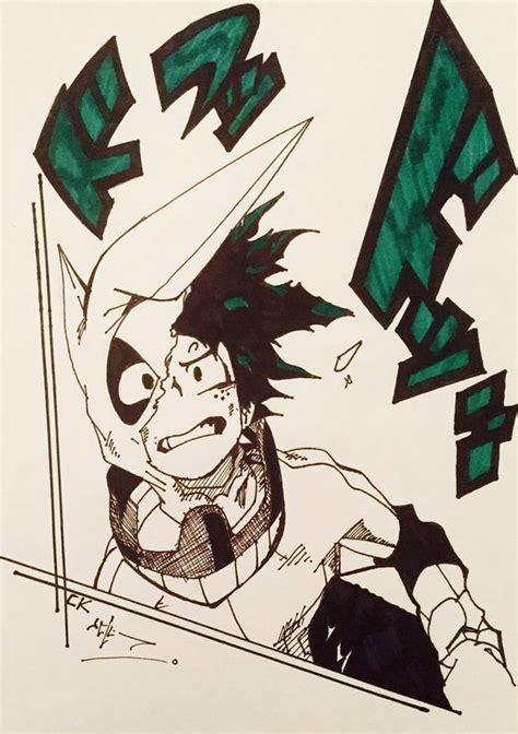Kaos Anime Boku No Academia Izuku Midoriya Shirt Kc Bha 03 boku no academia midoriya izuku dibujo drawing