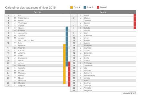 Calendrier De Vacances Vacances D Hiver 2016 Calendrier Et Dates Icalendrier Fr