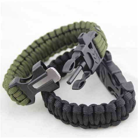 paracord survival bracelet with magnesium flint starter black jakartanotebook