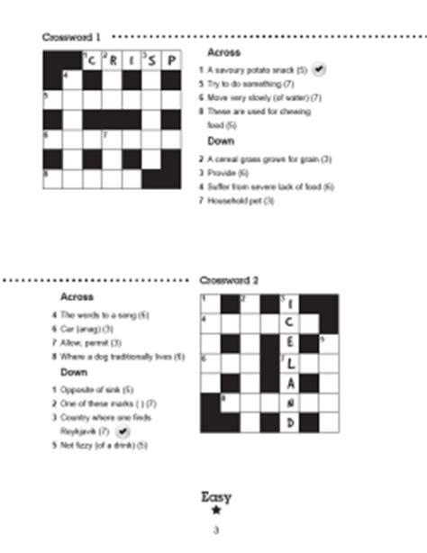 easy crossword puzzles uk children s crossword puzzles book