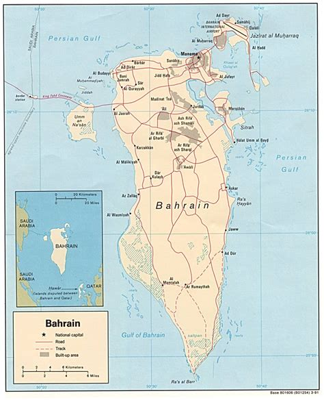 middle east map bahrain map of bahrain