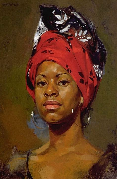 Black Woman Paintings Portraits | quot redhead quot william whitaker b 1943 oil on panel