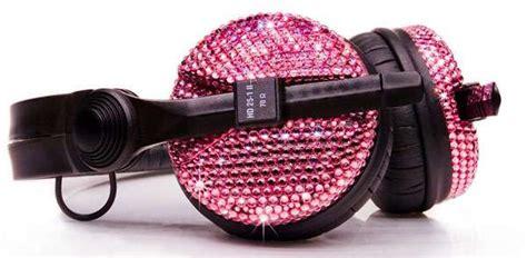 Crystalroc Blings Up Sennheiser Luxury Headphones by Pink Swarovski Headphones Crystalrocs Sparkles Up