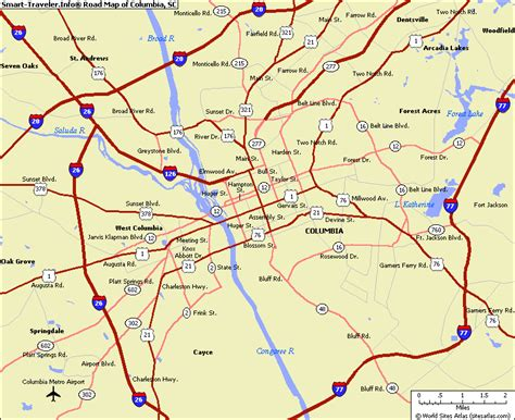Columbia Sc Records Map Of Columbia Sc My