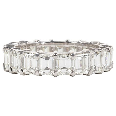 emerald cut gold eternity band for sale at 1stdibs