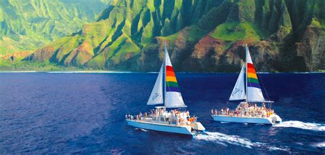 catamaran boat tours kauai blue dolphin charters niihau napali coast tours