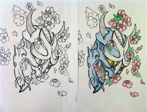 japanese oni mask tattoo designs getting oni mask