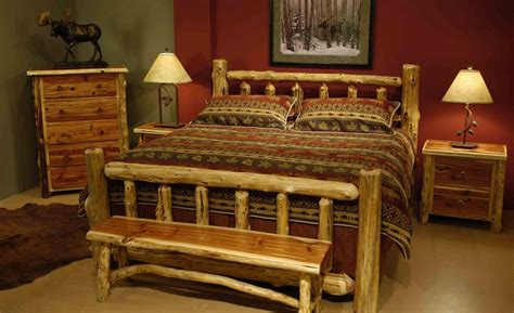 log bedroom set log full size bed frame bedroom set decofurnish