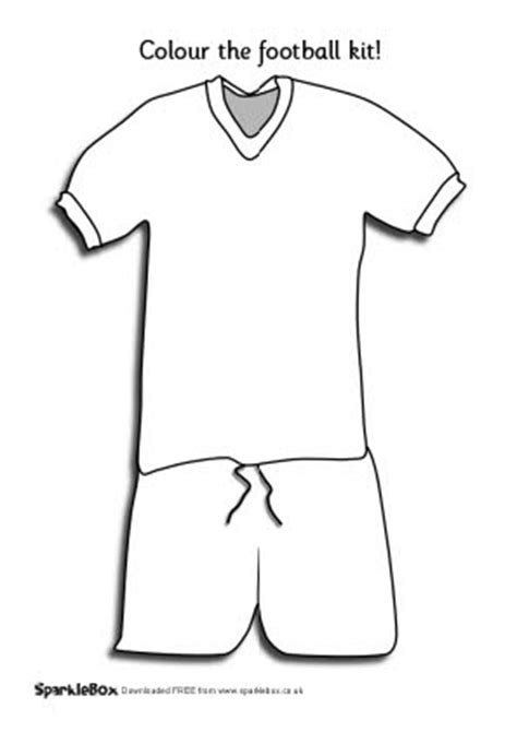 Football Shirt Card Template by Football Kit Colouring Sheet Sb234 Sparklebox