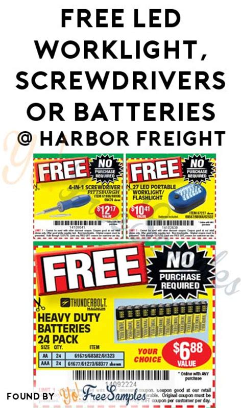 work lights at harbor freight free led worklight screwdrivers or batteries at harbor