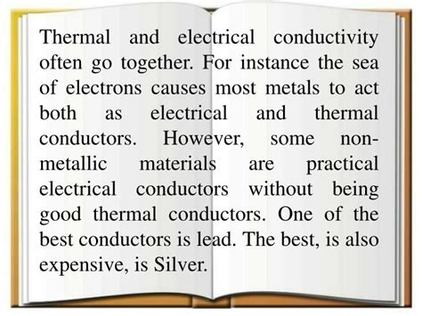 non metal electrical conductors ppt conductors and insulators powerpoint presentation id 6493799