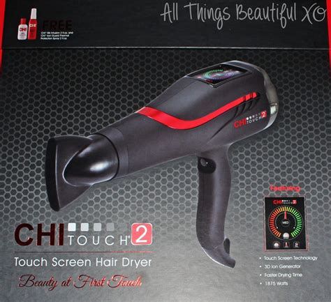 Chi Touch Screen Hair Dryer using the most hi tech dryer getting gorgeous curls