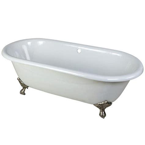 nickel bathtub aqua eden 5 5 ft cast iron satin nickel claw foot double