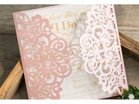 Hochzeitseinladung Hund by Lasercut Einladungskarte Hochzeit Quot Traum In Rosa Quot