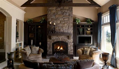 living room living room design with corner fireplace and tv patio shed scandinavian medium