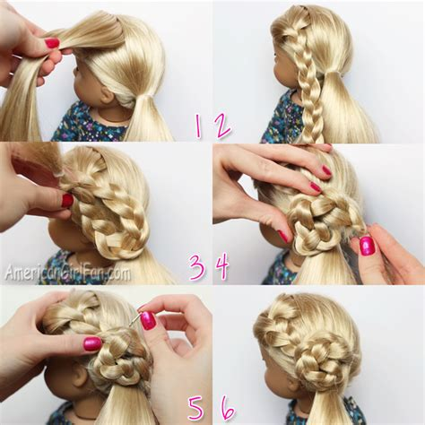 Doll Hairstyles Step By Step by Doll Hairstyle Flower Braid Side Ponytail Americangirlfan