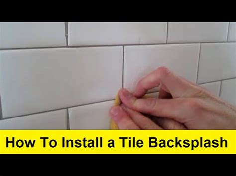 installing a plastic backsplash youtube how to install a tile backsplash youtube