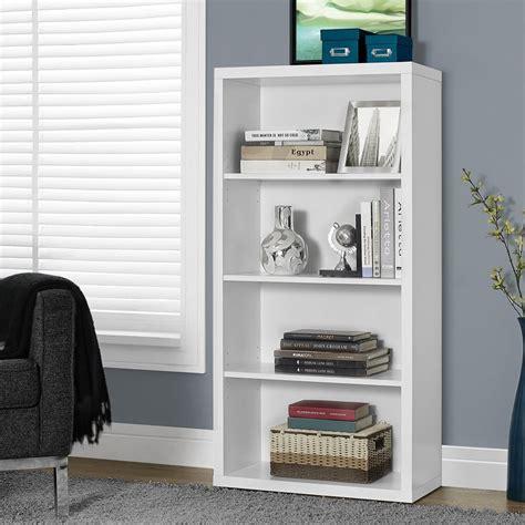 white 3 shelf bookcase shop monarch specialties white 3 shelf bookcase at lowes com