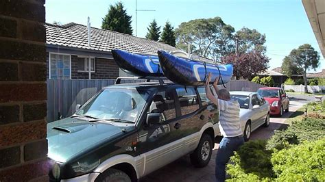 inflatable boat with roof loading my pontoon boat onto the roof of my car youtube