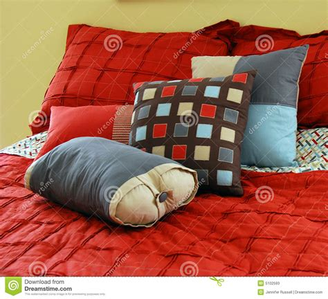 bed full of pillows bed with pillows stock photos image 5102593