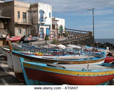 boats in italy called the port of pantelleria island sicily italy typical