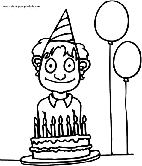 Boy Color Page Family People And Jobs Coloring Pages Birthday Boy Coloring Pages
