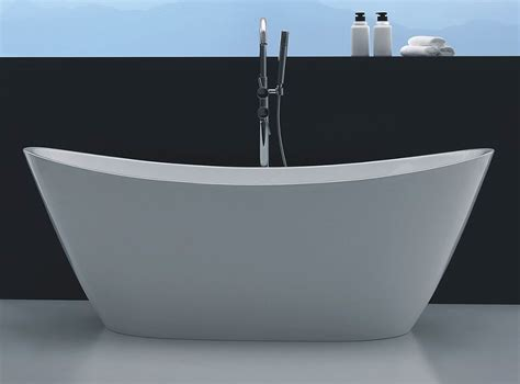 bathtubs freestanding modern vesi acrylic modern freestanding soaking bathtub 67