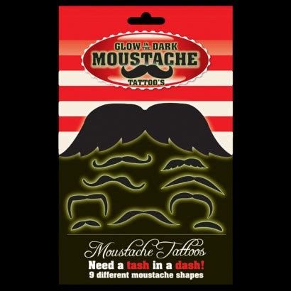 glow in the dark temporary tattoos uk glow in the dark moustache temporary tattoos