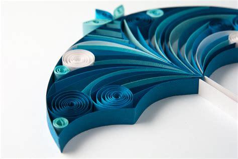 quilled umbrella paper paradise
