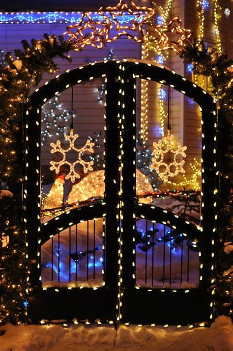 best christmas decor houses edmonton decorating with lighted snowflakes lights etc