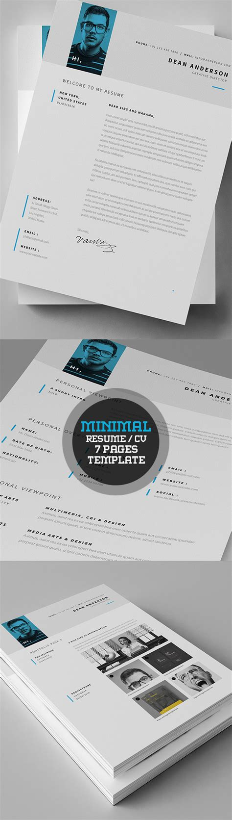 minimalist resume template photoshop 50 best cv resume templates with cover letter idevie