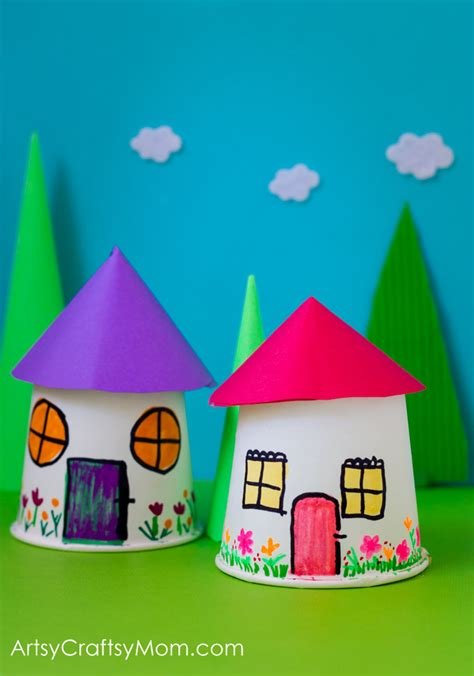 Paper Craft Activities For - paper cup miniature craft frugal childhood and