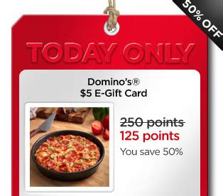 Check Dominos Gift Card - my coke rewards 5 domino s gift card for 125 points thesuburbanmom