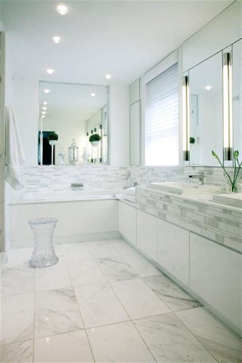 white contemporary bathrooms white bathroom