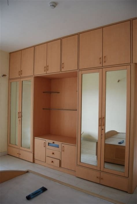 Armoire With Hanging Space Wood Almari Design Wardrobe Closet Design