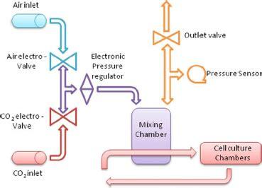bioreactor cell culture protocol schematic flowchart of the bioreactor system in orange