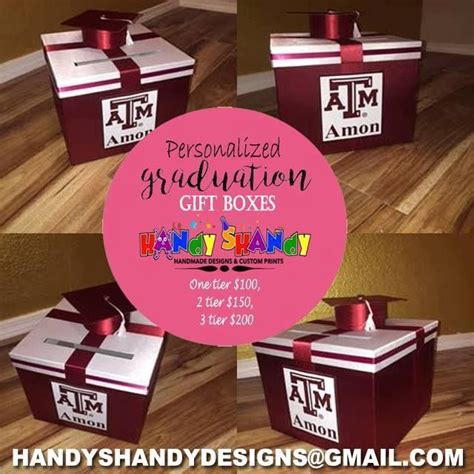 Handmade Graduation Gifts - personalized graduation gift boxes for your orders and