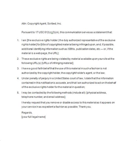 copyright template notice templates 104 free word pdf format