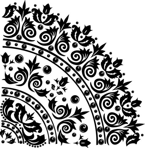 pattern vector black and white 8 black and white pattern vector material free vector