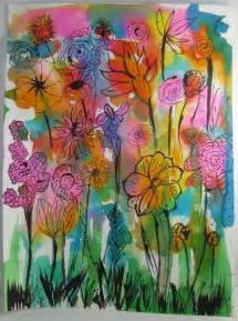 made by nicole abstract watercolor flowers kid craft