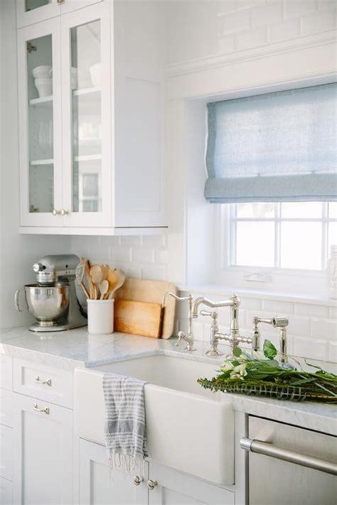 beveled subway tile kitchen ivory kitchen cabinets with beveled subway tile backsplash cottage kitchen