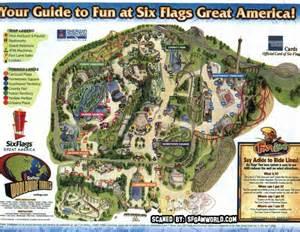 six flags great america map six flags great america