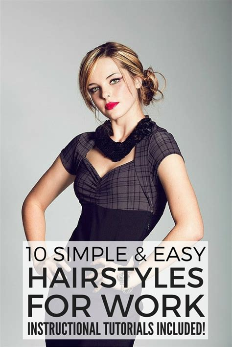 30 easy and trendy women hairstyles for work 2015 10 simple and easy hairstyles for work