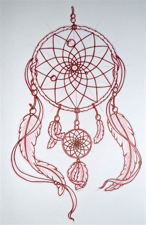 tattoo dreamcatcher designs mandala catcher drawings search