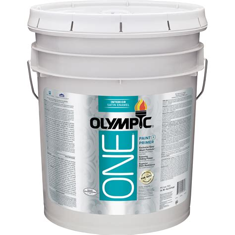 Interior Paint With Primer by Shop Olympic One One Tintable Satin Enamel Interior