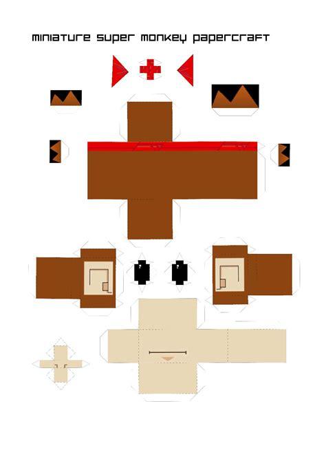 Monkey Papercraft - papercraft sab monkey a4 by convexandconcave on deviantart
