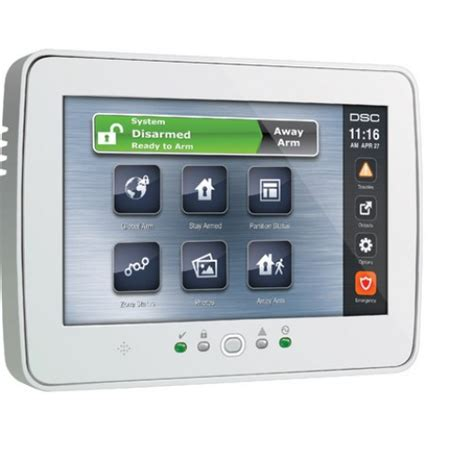 dsc ptk5507 powerseries touchscreen security interface
