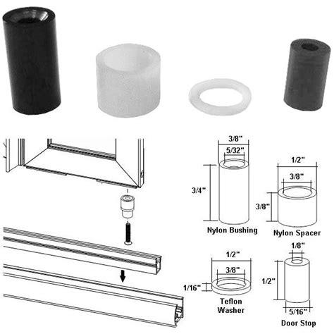 Nylon Bushing Kit And Door Stop For Framed Pivot Shower Kohler Shower Door Replacement Parts
